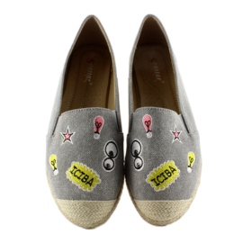 Espadrilles with JH21p Gray patches grey 1