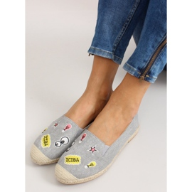 Espadrilles with JH21p Gray patches grey 2