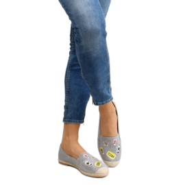 Espadrilles with JH21p Gray patches grey 4