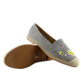 Espadrilles with JH21p Gray patches grey 5