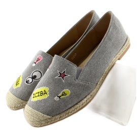 Espadrilles with JH21p Gray patches grey 3