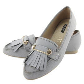 Moccasins in vintage style 3052 Gray grey 4