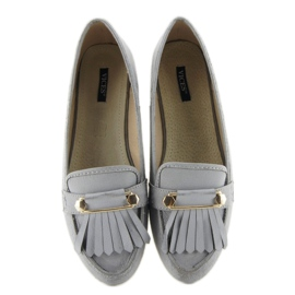 Moccasins in vintage style 3052 Gray grey 2