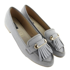 Moccasins in vintage style 3052 Gray grey 3
