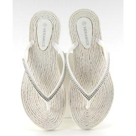 Rubber flip-flops like espadrilles ls069 white 1