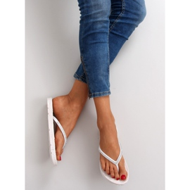 Rubber flip-flops like espadrilles ls069 white 3