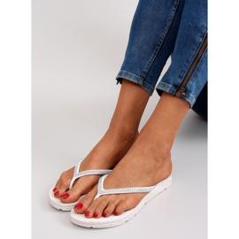 Rubber flip-flops like espadrilles ls069 white 4