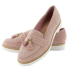 Classic ladies loafers 7101 Pink 6