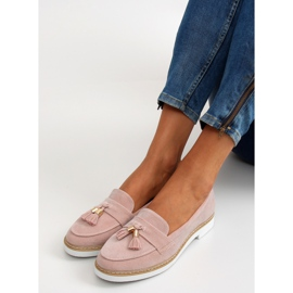 Classic ladies loafers 7101 Pink 4