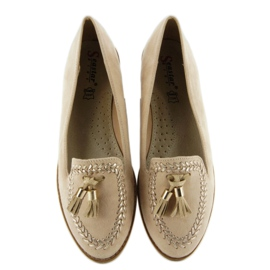 Moccasins with capped SK28P Beige noses 1