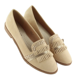 Moccasins lordsy decorated with Apricot sk33p brown 2