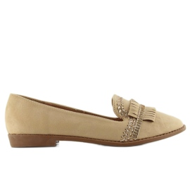 Moccasins lordsy decorated with Apricot sk33p brown 3