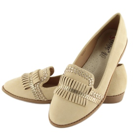 Moccasins lordsy decorated with Apricot sk33p brown 4