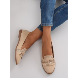 Moccasins lordsy decorated with Apricot sk33p brown 1