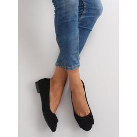 Women's ballet shoes suede t291p black 4