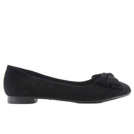 Women's ballet shoes suede t291p black 1