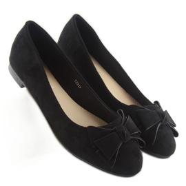 Women's ballet shoes suede t291p black 3