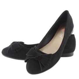 Women's ballet shoes suede t291p black 5