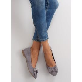Women's ballet shoes suede t291p gray grey 1