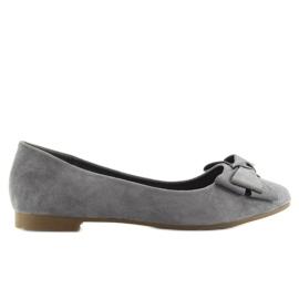 Women's ballet shoes suede t291p gray grey 2