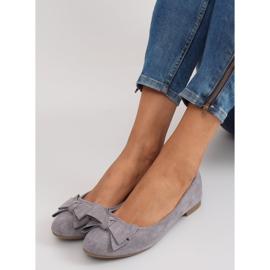 Women's ballet shoes suede t291p gray grey 3