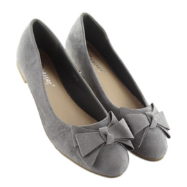 Women's ballet shoes suede t291p gray grey 4