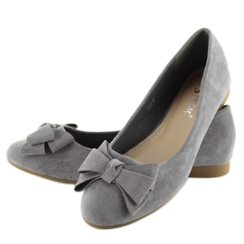 Women's ballet shoes suede t291p gray grey 5