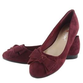 Women's ballerinas suede t291p wine red 5