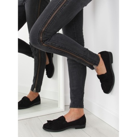 Women's loafers with black black bow 4