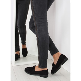 Women's loafers with black black bow 1