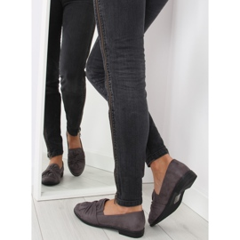 Women's loafers with a gray gray bow grey 2