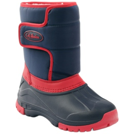 American Club American super light winter boots red navy 1