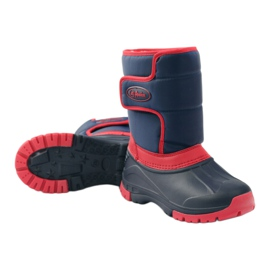 American Club American super light winter boots red navy 3