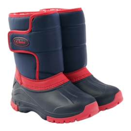 American Club American super light winter boots red navy 4