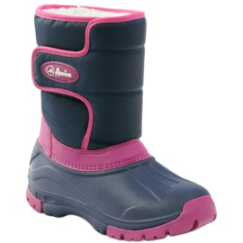 American Club Winter boots super light American boots navy pink 1