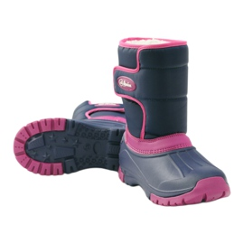 American Club Winter boots super light American boots navy pink 3