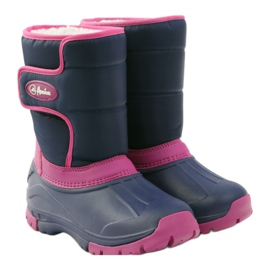 American Club Winter boots super light American boots navy pink 4