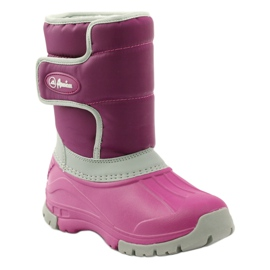 American Club Winter boots super light American boots pink grey 1