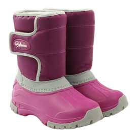 American Club Winter boots super light American boots pink grey 4