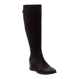 Boots with decorative Edeo 3138 zip black 1