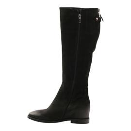 Boots with decorative Edeo 3138 zip black 2