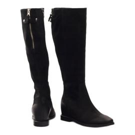Boots with decorative Edeo 3138 zip black 3