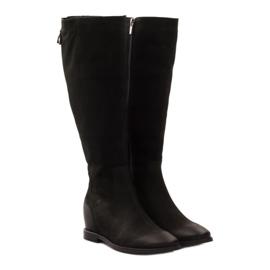 Boots with decorative Edeo 3138 zip black 4
