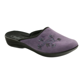 Befado women's shoes slippers 552D006 violet multicolored 1