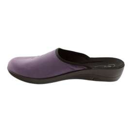 Befado women's shoes slippers 552D006 violet multicolored 2