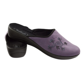 Befado women's shoes slippers 552D006 violet multicolored 3