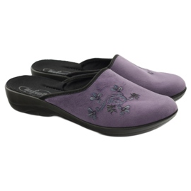 Befado women's shoes slippers 552D006 violet multicolored 4