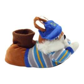American Club Warm slippers animals American squirrels blue brown 1