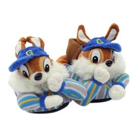 American Club Warm slippers animals American squirrels blue brown 5
