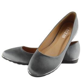 Satin gray ballerinas A8621 gray grey 3